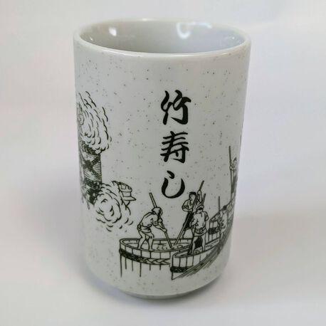 Ceramiczny kubek z motywem japońskim, (1) - Ceramika
