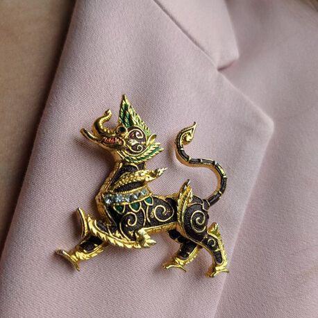 Orientalna broszka ze smokiem , (1) - Inne