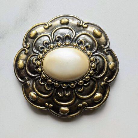 Damska klamra do paska z masą perłową , (1) - Inne