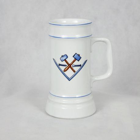 Kufel cechowy - wolnomularski, (1) - Ceramika