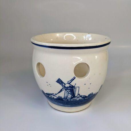 Doniczka Delft Blue ręcznie malowana, (1) - Ceramika