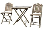 Stół Bambusowy z Krzesłami Lyon, (2) - Meble
