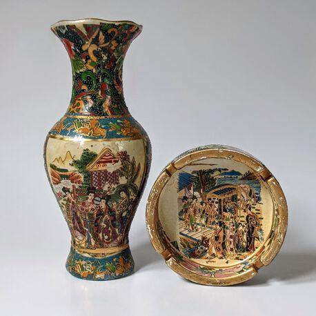 Zestaw wazon + popielniczka, (1) - Ceramika
