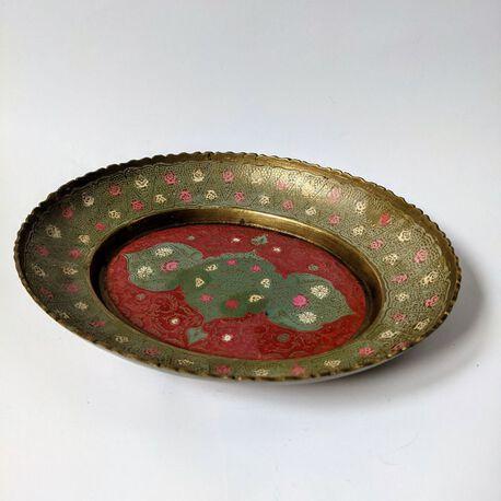 Ręcznie malowana patera z mosiądzu , (1) - Inne