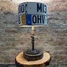 Lampa z rejestracjami - Ręcznie robiona, (2) - Oświetlenie