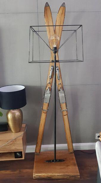 Lampa z nart Retro - rękodzieło, (1) - Meble