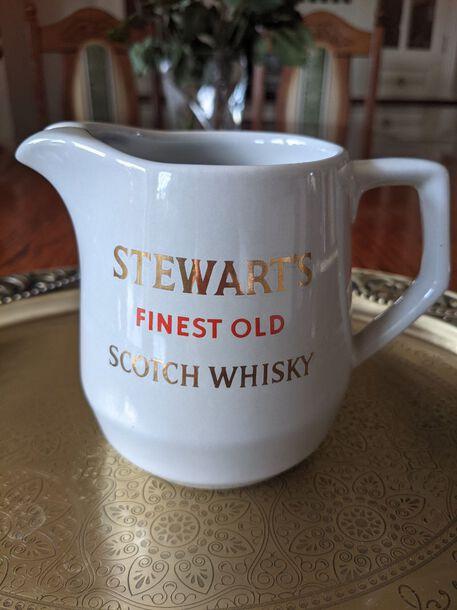 Dzbanek na wodę do whisky - Stewart's Scotch Whisky, (1) - Ceramika