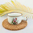 Kubek do zupy firmy BOLTZE BAZAR lata 70 XX , (3) - Ceramika