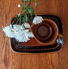 Vintage DECO HELSINGBORG Ceramiczny zestaw, Szwecja, lata 60, (5) - Ceramika