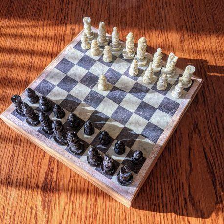 Komplet szachowy ręcznie wykonany z kamienia, (1) - Inne