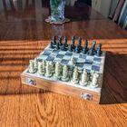 Komplet szachowy ręcznie wykonany z kamienia, (7) - Inne