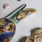 Dekoracyjne naczynia zdobione złotem i mozaiką bizantyjską - G.P. Deruta, (4) - Ceramika