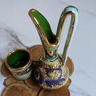 Dekoracyjne naczynia zdobione złotem i mozaiką bizantyjską - G.P. Deruta, (7) - Ceramika