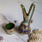 Dekoracyjne naczynia zdobione złotem i mozaiką bizantyjską - G.P. Deruta, (9) - Ceramika