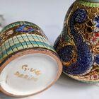 Dekoracyjne naczynia zdobione złotem i mozaiką bizantyjską - G.P. Deruta, (12) - Ceramika