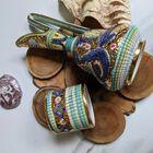 Dekoracyjne naczynia zdobione złotem i mozaiką bizantyjską - G.P. Deruta, (15) - Ceramika