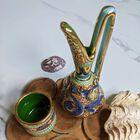 Dekoracyjne naczynia zdobione złotem i mozaiką bizantyjską - G.P. Deruta, (6) - Ceramika