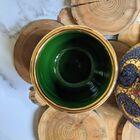 Dekoracyjne naczynia zdobione złotem i mozaiką bizantyjską - G.P. Deruta, (16) - Ceramika