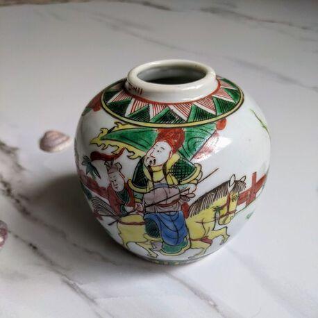 Chiński XIX-wieczny słoik Famille Verte , (1) - Ceramika