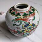 Chiński XIX-wieczny słoik Famille Verte , (2) - Ceramika