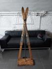 Wyjątkowa lampa ze starych nart - rękodzieło , (1) - Rękodzieło