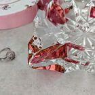 Kryształowa popielniczka barwiona na różowo, (4) - Trafika