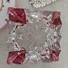 Kryształowa popielniczka barwiona na różowo, (6) - Trafika