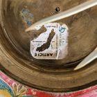 Ręcznie robiona misa z mosiądzu Indie lata 70 XX w., (8) - Rękodzieło