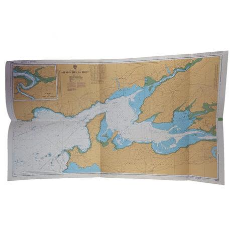 Mapa nawigacyjna - Podejścia do portu Brest z 1984 roku, (1) - Książki