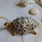 Figurka żółwia z kryształami Swarovskiego - Capodimonte - Made In Italy, (7) - Ceramika
