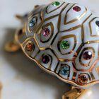 Figurka żółwia z kryształami Swarovskiego - Capodimonte - Made In Italy, (11) - Ceramika