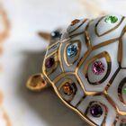 Figurka żółwia z kryształami Swarovskiego - Capodimonte - Made In Italy, (12) - Ceramika