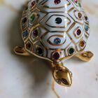 Figurka żółwia z kryształami Swarovskiego - Capodimonte - Made In Italy, (10) - Ceramika