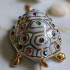 Figurka żółwia z kryształami Swarovskiego - Capodimonte - Made In Italy, (16) - Ceramika