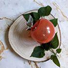 Szklane jabłko w kolorze pomarańczowym Huta Szkła NIEMEN, (4) - Szkło