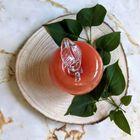Szklane jabłko w kolorze pomarańczowym Huta Szkła NIEMEN, (5) - Szkło