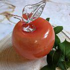 Szklane jabłko w kolorze pomarańczowym Huta Szkła NIEMEN, (1) - Szkło
