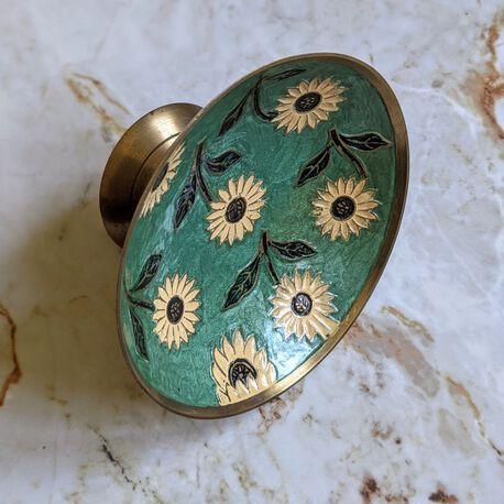Ręcznie robiona patera z mosiądzu vintage, (1) - Inne
