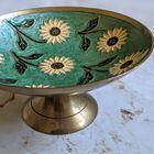 Ręcznie robiona patera z mosiądzu vintage, (2) - Inne