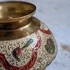 Ręcznie robiona patera z mosiądzu Indie II poł. XX w., (4) - Inne