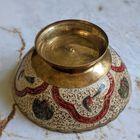 Ręcznie robiona patera z mosiądzu Indie II poł. XX w., (5) - Inne