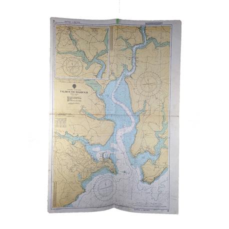 Mapa nawigacyjna - Port we Falmouth z 1975 roku, (1) - Książki